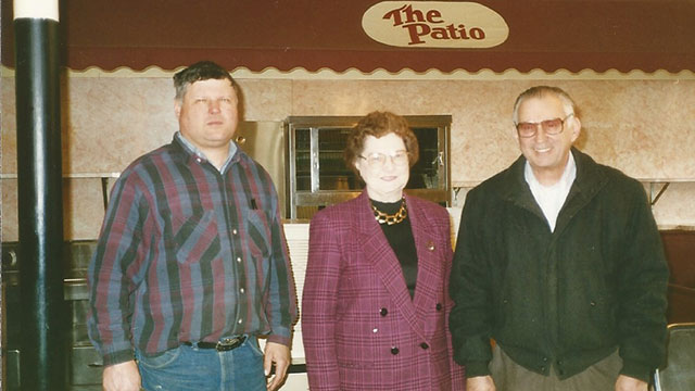 Jackie's Uncle John, Grandma Katherine and Grandpa Robert.